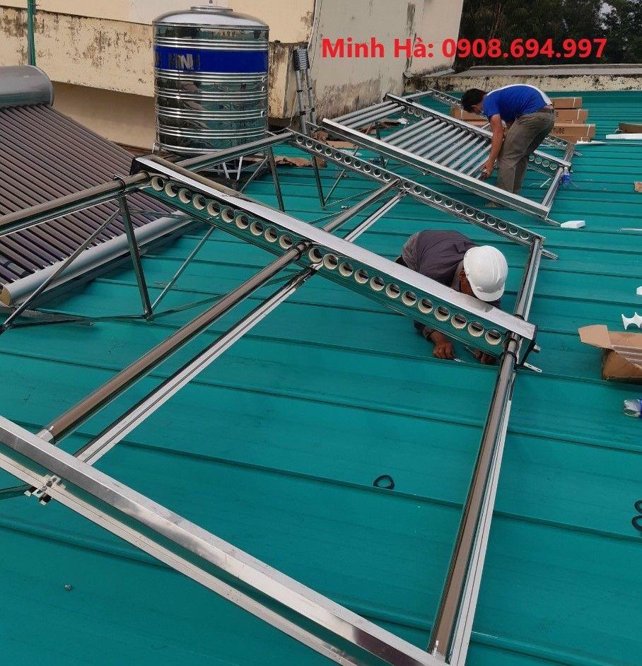 Máy nước nóng năng lượng mặt trời công nghiệp 1000L Bình Minh