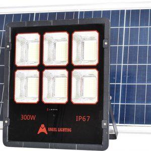Đèn pha năng lượng mặt trời 300w new